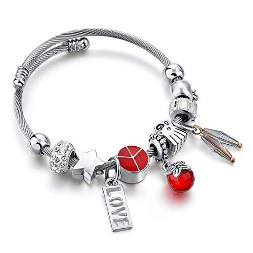 Armreif mit Kette, Braided Gold Color Leaf Bracelets & Bangles With Stones Luxury Crystal Bracelets For Women Wedding Jewelry Sbr140296 SBR180108RD -