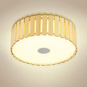 GAOLILI Led Einfache Moderne Deckenleuchte Wohnzimmer Lampe Schlafzimmer  Lampe Warme Holz Studie Studie Lampe Holz Lampe