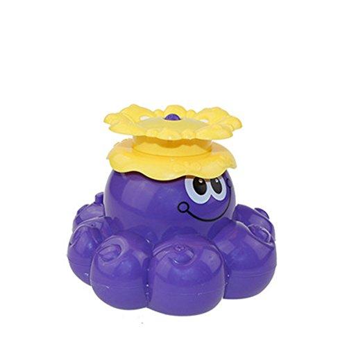 INCHANT Bad-Spielzeug, Spray Wasser Octopus (Ramdom Farbe), kann sich drehen Schwimmer mit Springbrunnen, Funcorn Spielzeug Schwimm Badewanne Dusche Pool Badezimmer-Spielzeug für Baby-Kleinkind-Säuglings Kid Party, Wasser-Pumpe Elektronischer Sprayer (Bad Spielzeug Brunnen)