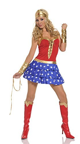 Wonder Woman Cosplay breast-binding Ra-Ra Costume - Size 10-12