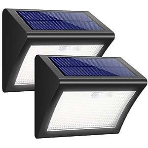 iPosible Solar Lights, 38 LED 2 Pack Motion Sensor Security Lights 3 Intelligient Modes