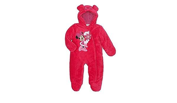 631c238c9732 Disney Infant Girls Plush Pink Minnie Mouse Snowsuit Baby Pram Snow ...