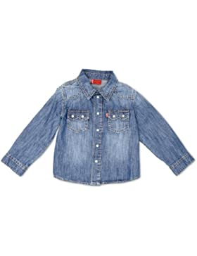 Levi's - Camisa con botones de manga larga para niño