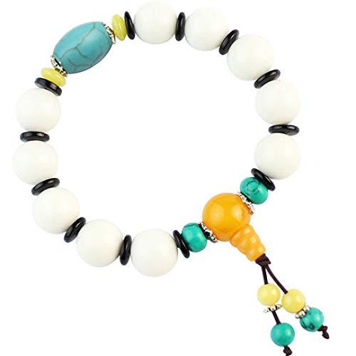 yayoushen Bracelets, Bracelets Bodhi Blancs 12mm Perles Perles Perles Bracelets Hommes et Femmes Bijoux Cadeaux