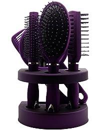 Los nuevos PC señoras unisex del espejo del cepillo de Hair Brush Comb mujeres viajan regalo
