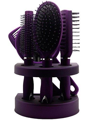 unisex-true-face-grooming-hair-brush-set-purple