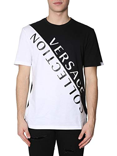 Versace Collection Homme V800683rvj00552v2005 Noir Coton T-Shirt 3c6d73ca989