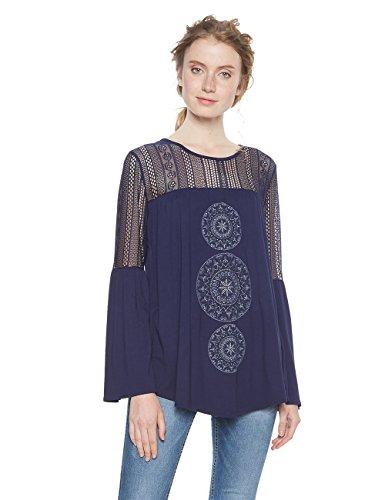 Desigual TS_neusifu Camiseta, (Navy 5000), XX-Large para Mujer