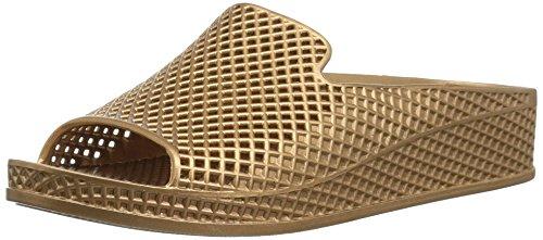 Skechers Mujeres Zapato Destalonado, Gold, Talla 10