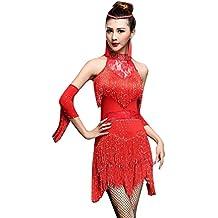 NiSeng Latino Salsa Cha Cha Tango Stanza Da Ballo Costume Danza Gonna Elegante Frangia