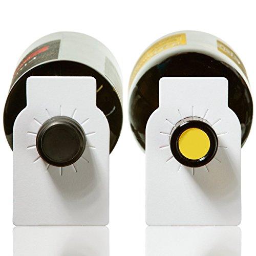 Papier Wein Flasche Tags-200Zählen einfaches Papier Weinkeller Etiketten von Home Affinity weiß (Papier-wein-flasche-tags)