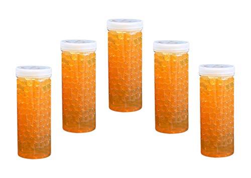 Trendfinding 5 x 240g Hydroperlen Orange künstliche Blumenerde Wasserperlen Aquaperlen -