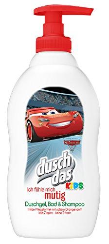 Duschdas Kids 3 in 1 Duschgel Bad Shampoo Cars Mutig 400 ml, 6er Pack (6 x 400 ml) (Wash 1 In Disney Body 3)