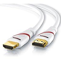 CSL - 10m Ultra HD 4k HDMI Câble | High Speed par Ethernet | Full HD 1080P/4K Ultra HD 2160P à 30 Hz/3D/ARC et CEC | Câble Triple Blindage + Blindage Fiche et Contacts