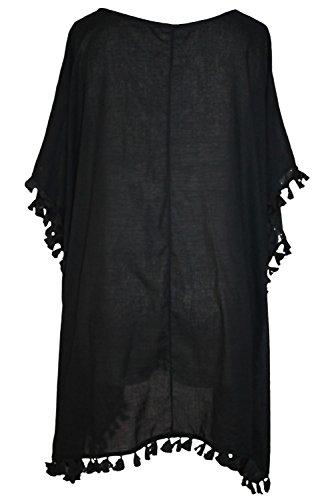 Yiyada Damen Sommer Strandkleid Minikleid Oberteile Neckholder Cover Up Frauen Sommerkleid Partykleid Beachwear Bademode Pareos Strandkleider Schwarz
