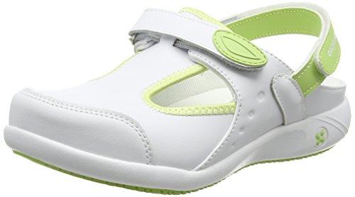 Oxypas Move Carin Slip-resistant, Antistatic Nursing Shoes, White (Lgn) , 4 UK (EU: 37)