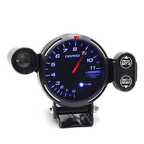 Ting Ao Professional 12 V tachymètre Gauge Kit LED 8,9 cm Auto au mètre + Moteur Pas TR/Min