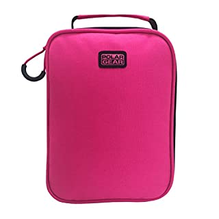 Polar Gear Machine Washable Lunch Bag, 600D Polyester Pink, 8 x 16 x 22 cm