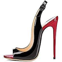 4066097087728 EDEFS Femmes Artisan Fashion Sandales Décolletés Bout Ouverts Chaussures à  Talon ...
