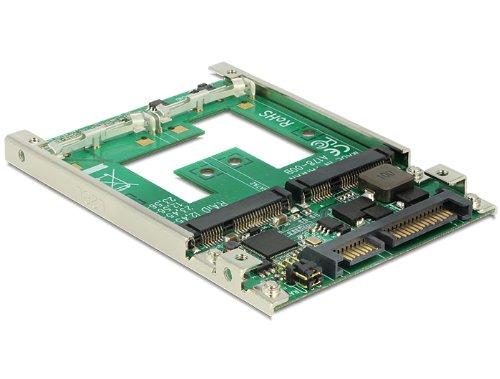 DELOCK Konverter SATA 22 Pin > 2 x mSATA 6,35cm 2,5Zoll mt RAID 7 mm -
