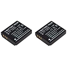 2x Batería para Panasonic CGA-S005, CGA-S005E para panasonic DMX-LX1, DMC-LX2, DMC-LX3, LX9