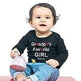 Best Grandpa Tshirts - Bon Organik Grandpa's Favorite Girl for Baby(BON2966-HT-BK-K-6-9M1T Tee) Review