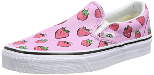 Vans Classic Slip-on Scarpe da Ginnastica Basse, Unisex Adulto, Rosa (strawberries/pastel Lavender/true White), 37  EU