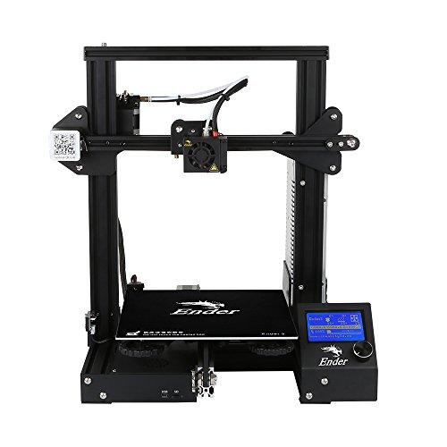 ZHQEUR Ender 3 3D Drucker Economic Ender DIY Kits mit Resume Printing Funktion 220x220x250mm Metall zugänglich