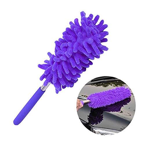 Godagoda Mikrofaser Staubwedel mit Teleskopstange Staubwischer Antistatische Duster Staubpinsel Autowaschbürste Reinigungsbürste Familie Büros Autos Fenster