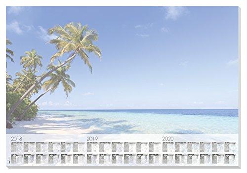 Sigel HO470 Papier-Schreibunterlage mit 3-Jahres-Kalender, 59,5 x 41 cm, 30 Blatt - weiteres Design (2015 Papier-kalender)