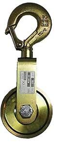 Poulie à chape simple à câble CMU 500kg Poids 1,190kg Ø réa 100mm Ø câble 8/10mm