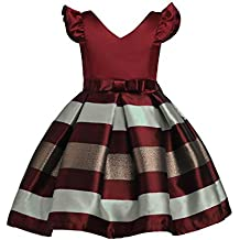 Vestidos para niña 3 – 9 añosJYJM Moda Niña Niña corta boda horizontal rayas princesa fiesta
