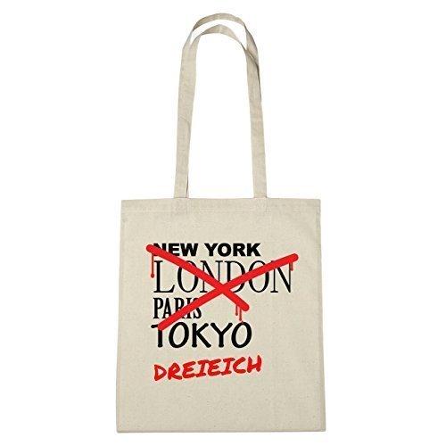 JOllify tre Eichhorn di cotone felpato B1191 schwarz: New York, London, Paris, Tokyo natur: Graffiti Streetart New York