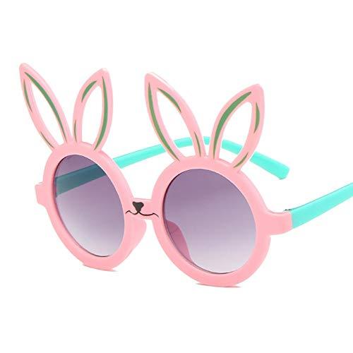 MoHHoM Sonnenbrillen Für Kinder,Niedliche Kaninchen Form Flexible Kinder Sonnenbrille Uv 400 Brillen Farben Kleinkind Kind Baby Kinder Sicherheit Polarisierte Sonnenbrille Pink