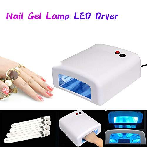 Spa Nagel-trockner (Nagel Gel Lampe LED Trockner 36W UV Gel Acryl Aushärtelicht Spa Kit + 4 Röhren Maschine Heimgebrauch Und Schönheitssalon)