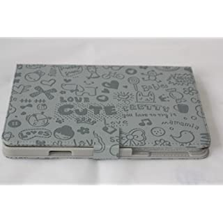 amara-global Little Magic Girl Case for ipad mini protective smart cover leather + Stylus, grey