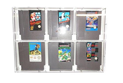 UV Absorptive Acrylbox Wandregal Für NES Module Ohne Original Verpackung I Hüllen Schutzhüllen passend Für Spiele wie Super Mario Bros 2 3 Donkey Kong Turtles Mega Man Kirbys Adventure Castlevania Tetris World Cup UVM (Super Bros Nes Mario Für)