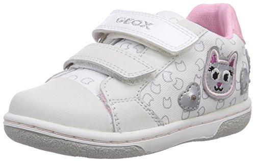 Geox B FLICK GIRL F, Baby Mädchen Lauflernschuhe, Weiß (WHITEC1000), 22 EU
