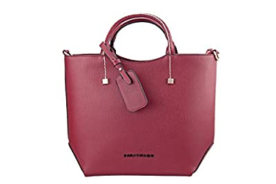Sac porté main Epaule Sac Bandoulière Fantaisie - Multi Usage en Cuir PU Couleur Bordeaux Rouge - Femmes/ Filles