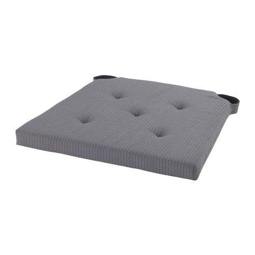 JUSTINA IKEA-Cuscino per sedia, colore: grigio, 35/42 x 40 x 4 cm