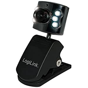 LogiLink UA0072 Webcam USB 8 Mpix avec 6 LEDs Noir