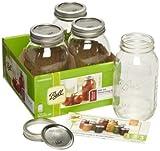 Ball Mason Glass Preserving Homemade Jam Gift Jars 945ml (Pack of 4)