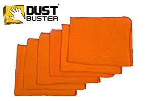 "HomeStrap™ Dust Buster® Duster Cloth - Orange (15""X17"") - Pack of 6"