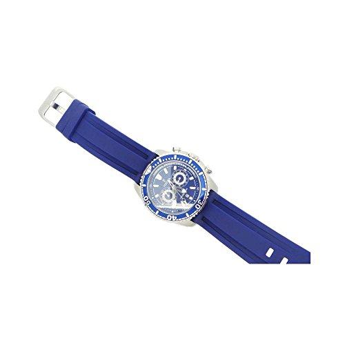 Festina Herren Armbanduhr F16574/3Quarz (Batterie) Stahl Quandrante blau Armband Gummiarmband '
