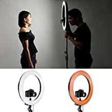 "Neewer&reg Kit cámara Photo Studio 18 ""exterior 14"" interior 600W 5500K Anillo regulable fluorescente de luz de flash para el retrato, la fotografía de moda y grabación de vídeo"