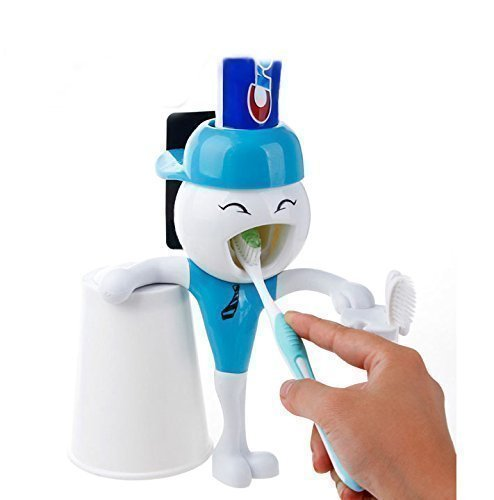 ANDY DOLL DISPENSADOR de pasta dental,sujeta cepillos dentales,