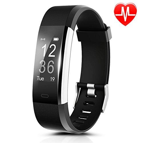 Fitness Armband HR, CAMTOA ID115Plus Fitness Tracker mit Pulsuhr,Smart Gesundheit Aktivitätstracker 0.96'' OLED Sport Armband - Herzfrequenz, Sport-Modus, GPS, Schrittzähler, Schlaftracker, SMS Anrufe, Remote Kamera & Musik für Android iOS Smartphone Smartwatch