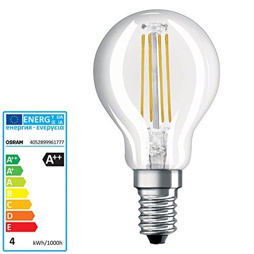 Preisvergleich Produktbild OSRAM PARATHOM LED RETROFIT CLASSIC P E14 220 240 V RETROFIT CL P40 clear filament 827 4W 470lm 2700