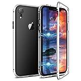 CE-LINK Coque iPhone XR, Magnétique Transparent Housse Rigide en Verre Trempé avec...