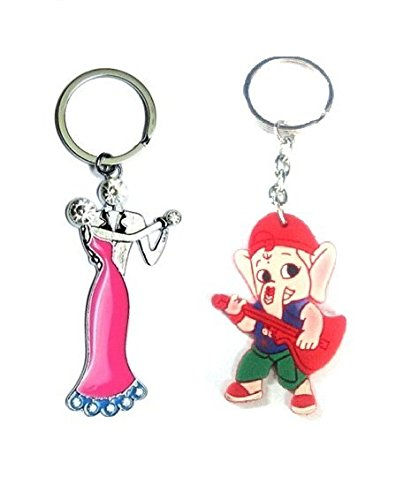 Parrk Couple Bent Gate With Bal Ganesh Key Chain  available at amazon for Rs.199